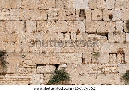 The Western Wall, Kotel Wailing Wall. Jerusalem. Israel.