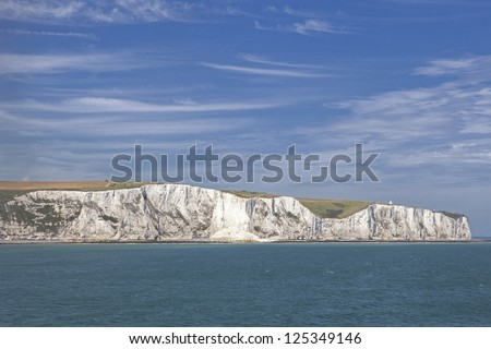 The white cliffs of dover from the sea