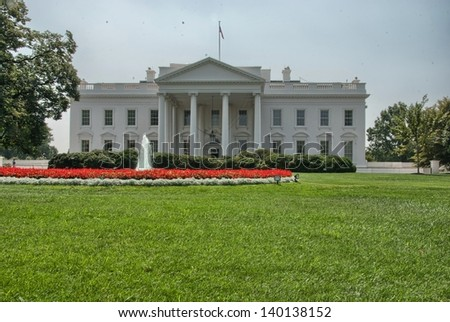The White House and its gardens -  Washington, DC. - stock photo