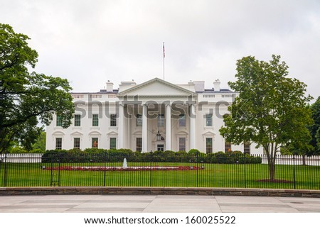 The White House building in Washington, DC in the morning - stock photo