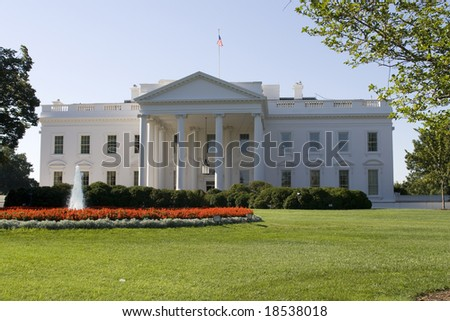 The White House, house of the president in Washington DC - stock photo