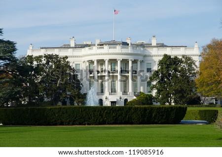 The White House in Autumn - stock photo