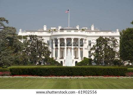 The White House in Washington D.C. - stock photo