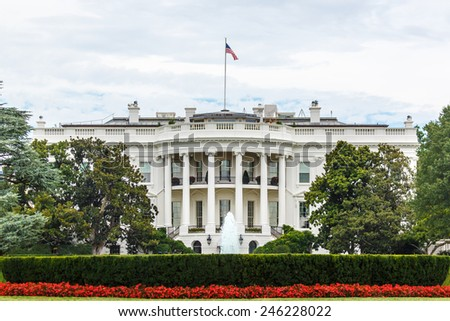 The White House in Washington, DC - stock photo