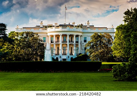The White House on a beautiful summer day, Washington, DC. - stock photo