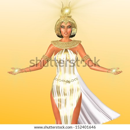 Egyptian Headdress Drawing The White Light of Egypt
