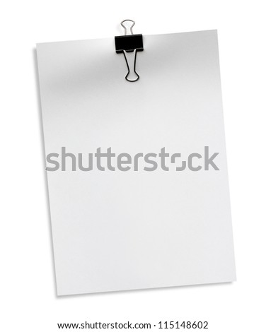 The white paper A4 isolated on white background - stock photo