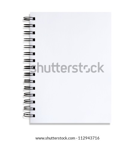 The white paper notes on a white background - stock photo
