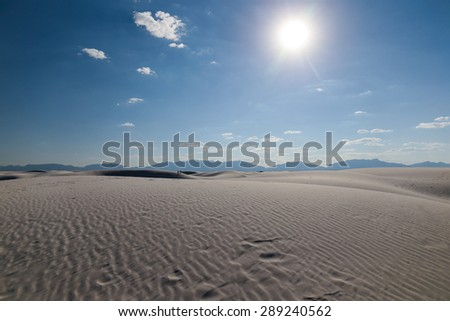 The White Sands Desert, New Mexico, USA  - stock photo