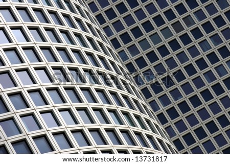 The white skyscrapers office building #3 - stock photo