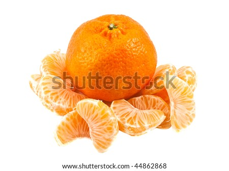 The whole tangerine and the parts of it