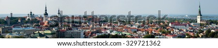 The Wide Tallinn landscape. Estonia. - stock photo