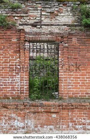 the window in the old brick Church