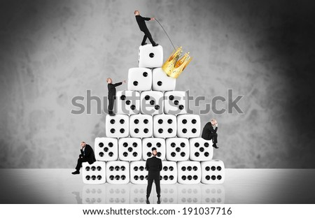 The winner takes it all - career / gambling concept - stock photo