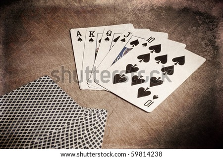 The Winning Hand Conceptual Grunge Image - stock photo