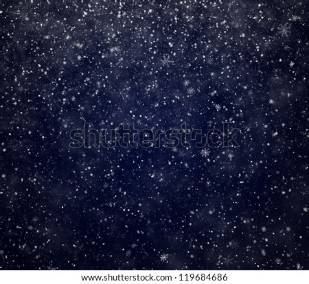 The winter background, falling snowflakes - stock photo