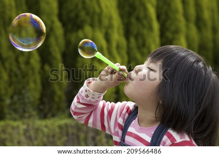 The Woman Blowing Bubbles