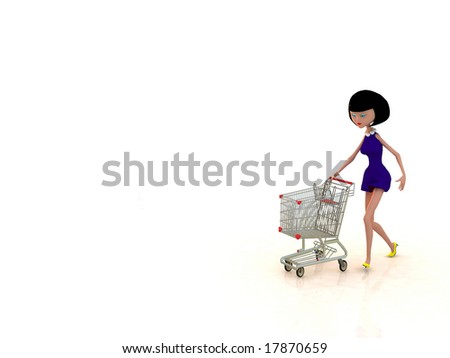 the woman on a white background
