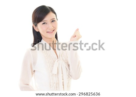 The woman who enjoys working  - stock photo