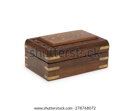 The wooden chest - stock photo