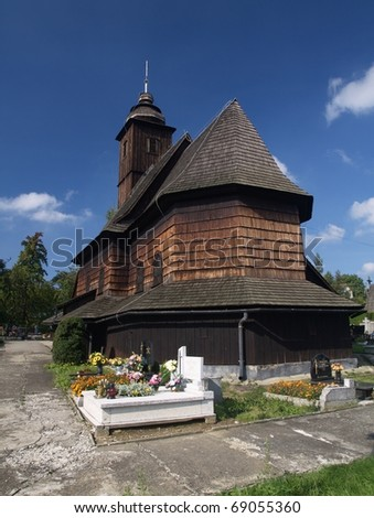 The wooden church - stock photo