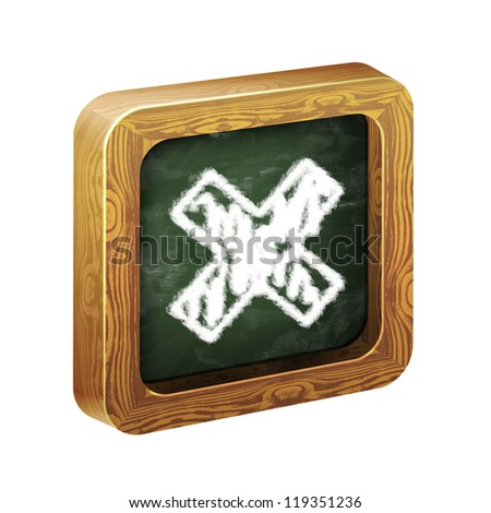 The wooden frame of the icon, chalk hand-painted - stock photo