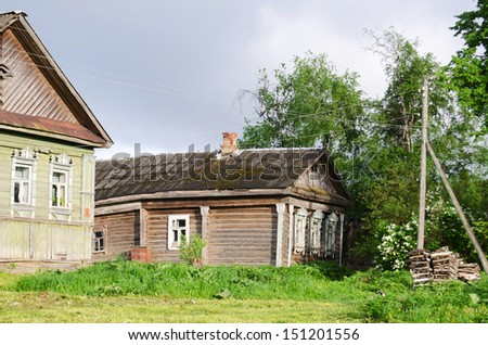 The wooden house in a countryside Russia