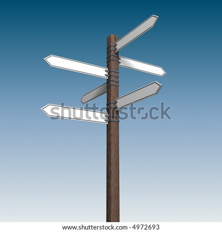 The wooden index - stock photo