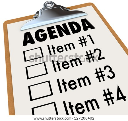 Meeting Agenda Stock Images RoyaltyFree Images  Vectors