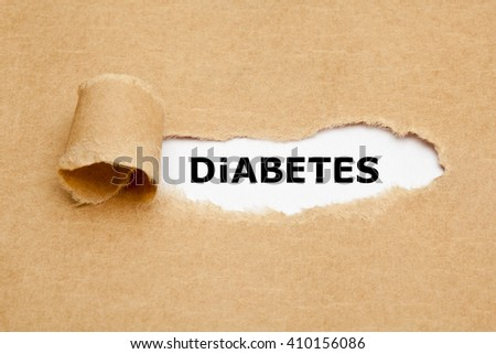 The word Diabetes appearing behind torn brown paper.  - stock photo
