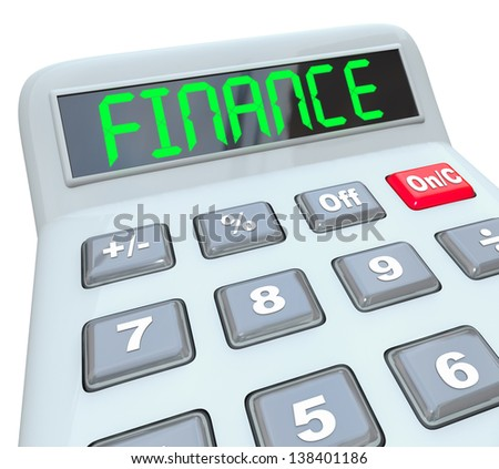 Word Savings On Calculator K On Stock Illustration