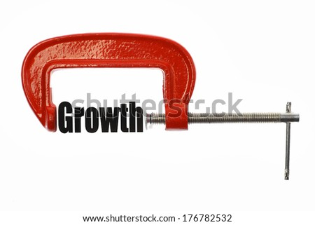 "The word ""Growth"" is compressed with a vice. Business metaphor."