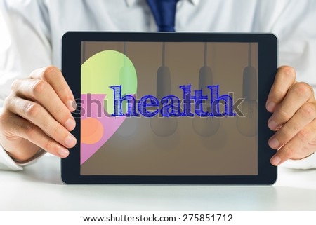 The word health and autism awareness heart against second light bulb lighting - stock photo
