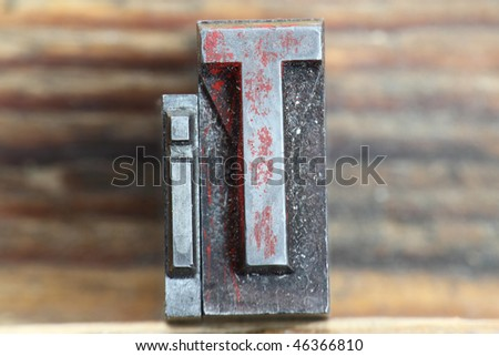the word it in letterpress type on a wooden background. - stock photo