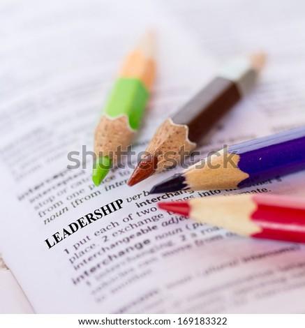 The word LEADERSHIP - stock photo