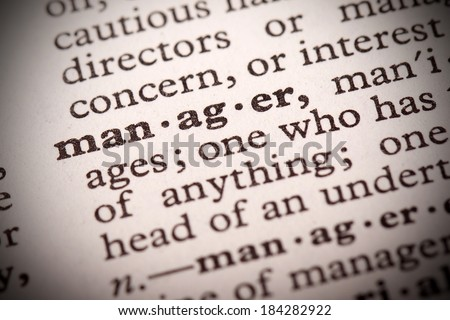 """The word """"Manager"""" in a dictionary - stock photo"""