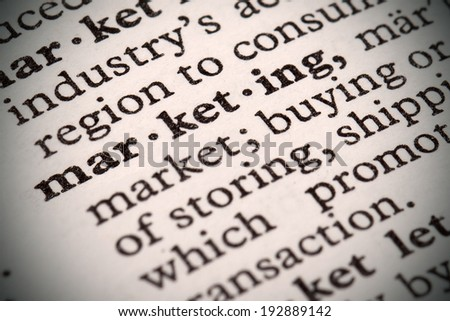 "The word ""Marketing"" in a dictionary - stock photo"