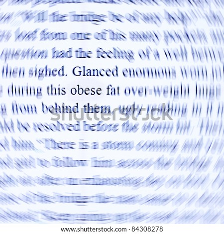 The word 'obese' on a computer screen