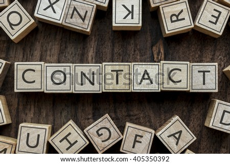 the word of CONTACT on building blocks concept