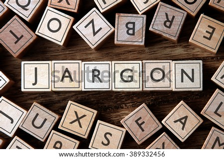 the word of JARGON on building blocks concept - stock photo