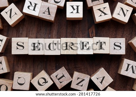 the word of SECRETS on cubes - stock photo