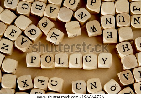 The word POLICY - stock photo