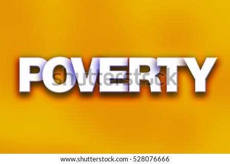 Word Poverty Written White Tiles Against Stock