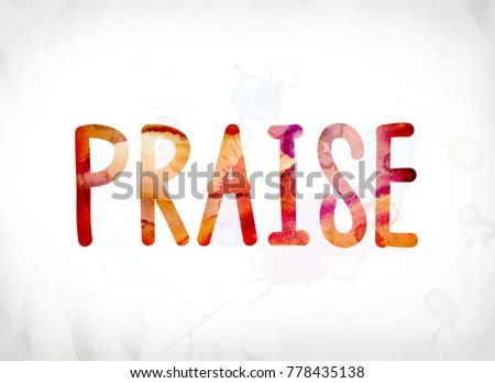 word praise concept theme painted colorfulのイラスト素材 778435138
