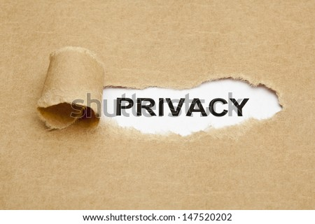The word Privacy appearing behind torn brown paper. - stock photo