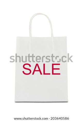 The word sale on shopping bag - stock photo
