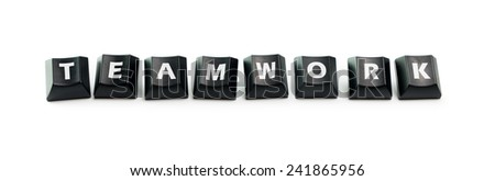 The word Teamwork spelled out using keyboard buttons - stock photo