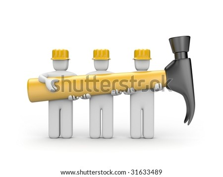 The work collective - stock photo