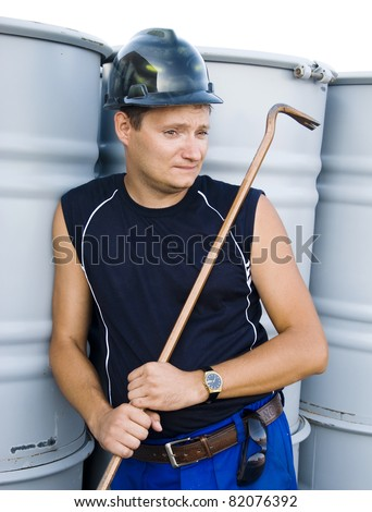The worker has a rest - stock photo