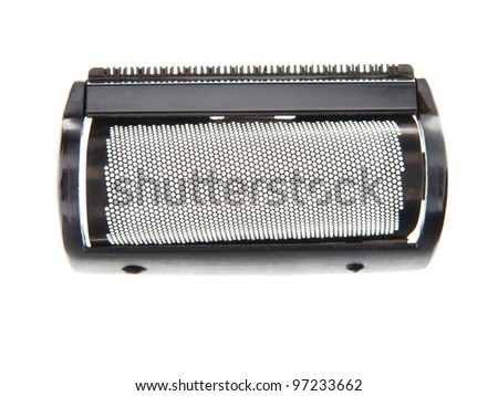 The working part of the electric razor isolated on white.